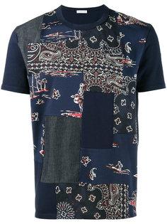 футболка с принтом в лоскутном стиле Moncler