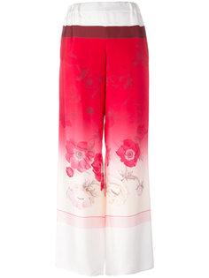 широкие брюки с цветочным принтом Salvatore Ferragamo