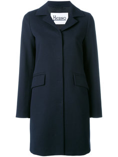 однобортное пальто Herno