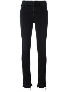 узкие джинсы с бахромой Ssheena