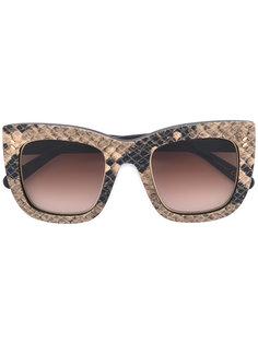 квадратные солнцезащитные очки с узором под кожу питона Stella Mccartney Eyewear