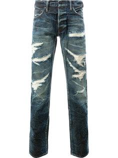 джинсы с потертой отделкой Mastercraft Union