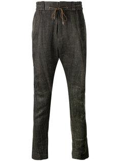 брюки с заниженной шаговой линией Devoa