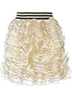мини-юбка с оборками Alexander McQueen