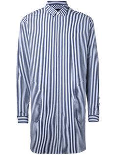 удлиненная рубашка в полоску Juun.J