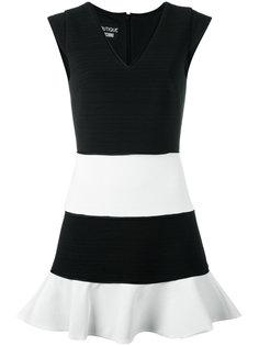платье с V-образным вырезом и контрастной отделкой  Boutique Moschino