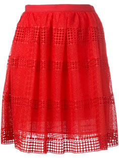 юбка со вставкой с узором Michael Michael Kors