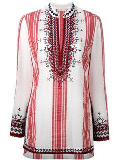 полосатая блузка с вышивкой Tory Burch