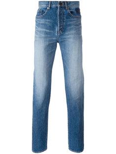 джинсы кроя слим с вышивкой Saint Laurent
