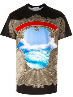 футболка с принтом океана Givenchy