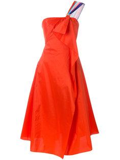 платье корсетного кроя с драпировкой Peter Pilotto