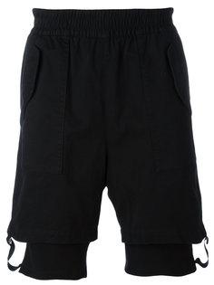 шорты с лямками на манжетах Helmut Lang
