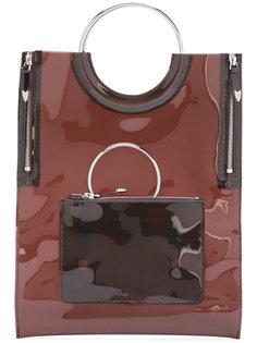 виниловая сумка-тоут с ручками в форме кольца Toga