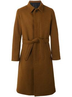 удлиненное пальто с поясом Ami Alexandre Mattiussi