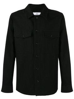 плотная рубашка на пуговицах Ami Alexandre Mattiussi