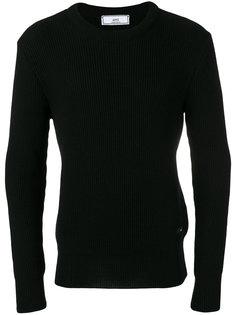 свитер в рубчик с круглым вырезом  Ami Alexandre Mattiussi