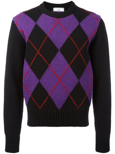 свитер в клетку аргайл Ami Alexandre Mattiussi