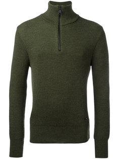 свитер в рубчик с молнией  Ami Alexandre Mattiussi