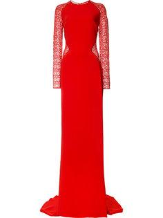 платье-макси с кружевными вставками Stella McCartney