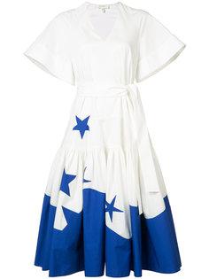 расклешенное платье с широкими рукавами Delpozo