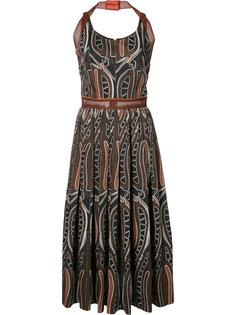 плиссированное платье с сетчатыми деталями Sophie Theallet
