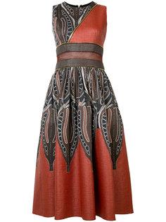 приталенное платье с декоративными молниями Sophie Theallet
