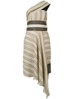асимметричное платье в полоску Sophie Theallet