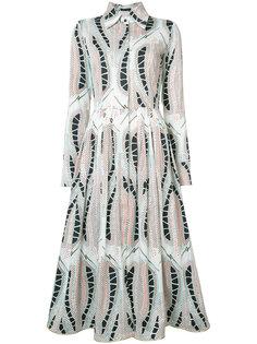 платье-рубашка с лиственным принтом Sophie Theallet