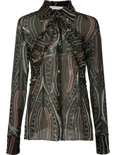 прозрачная рубашка с рюшами Sophie Theallet