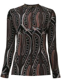 блузка с лиственным принтом Sophie Theallet