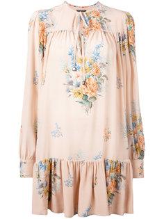 платье с цветочным принтом Alexander McQueen