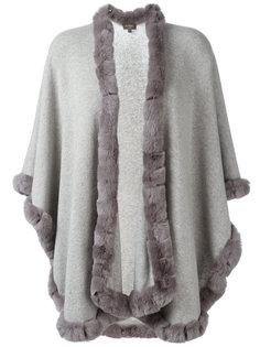 кардиган-пальто с меховой отделкой N.Peal