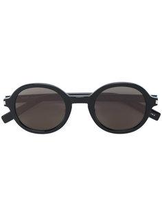 солнцезащитные очки в круглой оправе с затемненными линзами Saint Laurent Eyewear