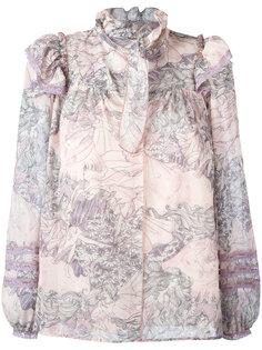 блузка с оборками на воротнике Marc Jacobs