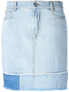 прямая джинсовая юбка с бахромой Vivienne Westwood Anglomania