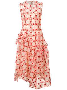платье с узором и рюшами Simone Rocha