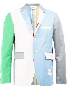 пиджак дизайна колор-блок Thom Browne