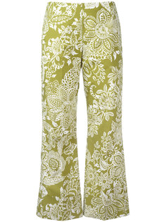 укороченные брюки с узором Fay