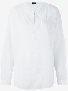рубашка с завязкой на горловине Jil Sander Navy