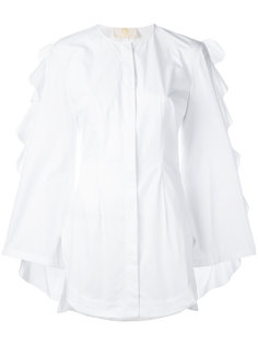 рубашка с оборками на рукавах Sara Battaglia