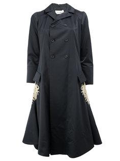 расклешенное пальто с вышивкой Wales Bonner