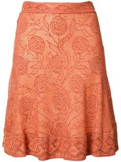 юбка с цветочным узором Roberto Cavalli