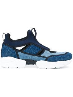 кроссовки с панельным дизайном MSGM