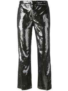 укороченные брюки с отделкой пайетками Nº21