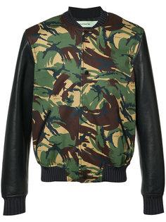 куртка-бомбер с камуфляжным принтом Off-White