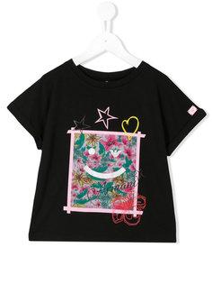 футболка с принтом Armani Junior