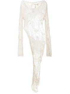 асимметричная блузка открытой вязки Isabel Benenato