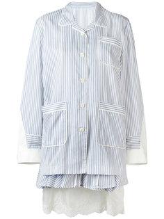 многослойное платье в пижамном стиле Sacai