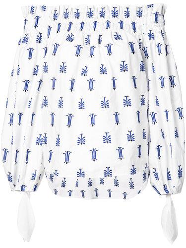 блузка с открытыми плечами Caroline Constas