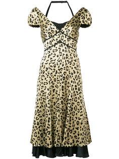 платье с леопардовым принтом Cinq A Sept